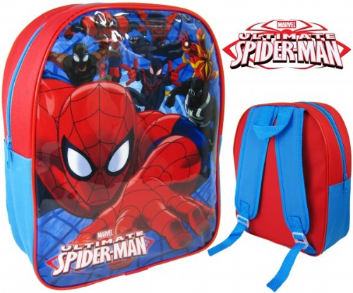 "Official Ultimate ""Spiderman"" Character Nursery School Backpack"